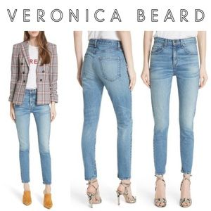 Veronica Beard Faye High-Waist Skinny Ankle Jeans